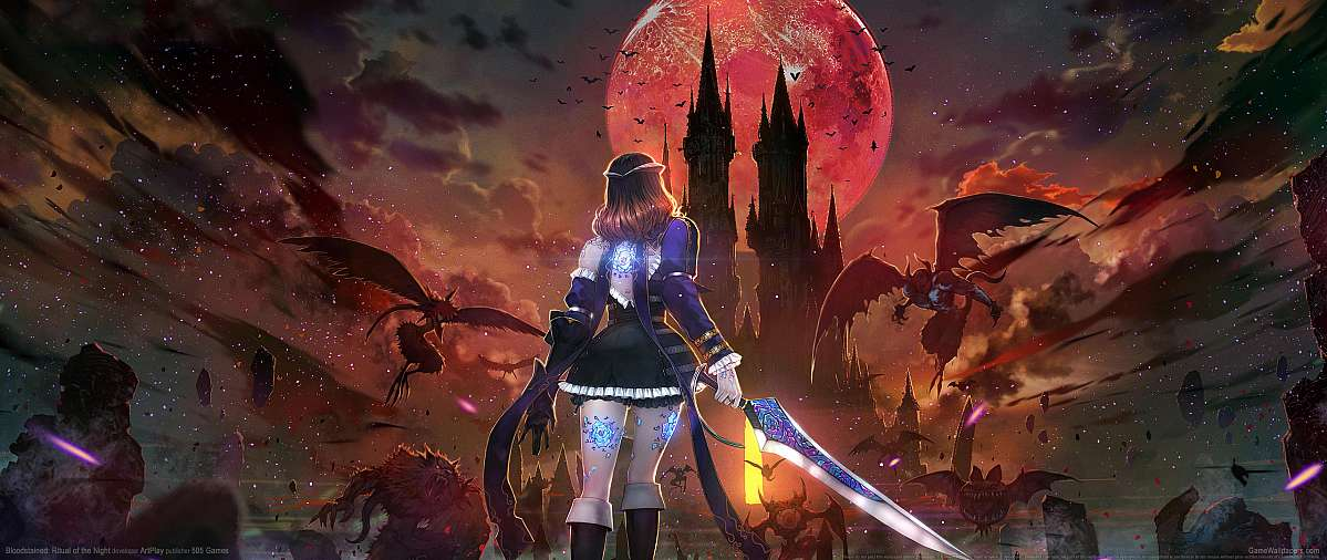 Bloodstained: Ritual of the Night ultrawide wallpaper or background 01