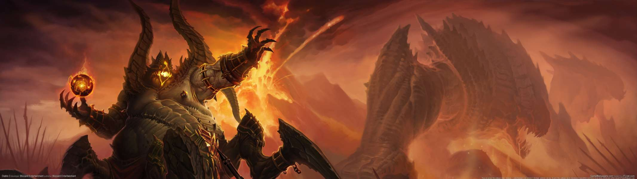Diablo 3 dual screen wallpaper or background