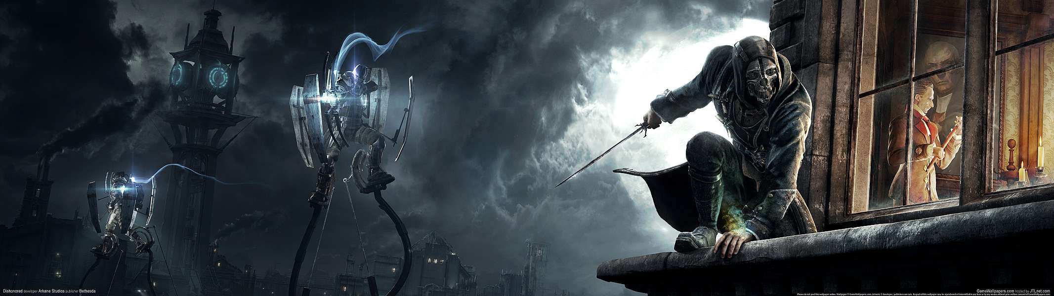Dishonored dual screen wallpaper or background