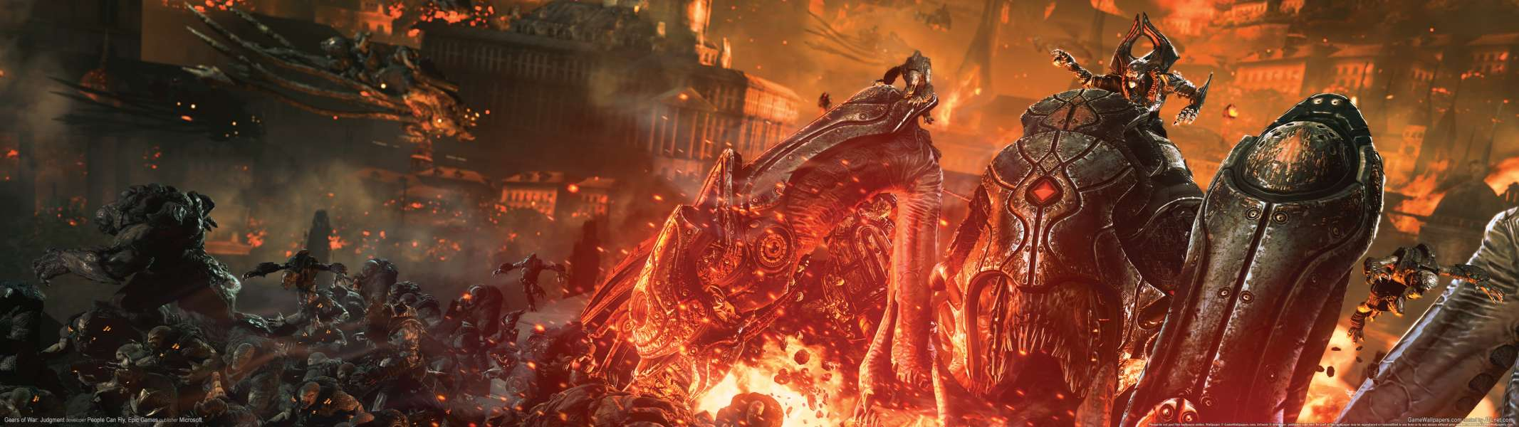 Gears of War: Judgment dual screen wallpaper or background