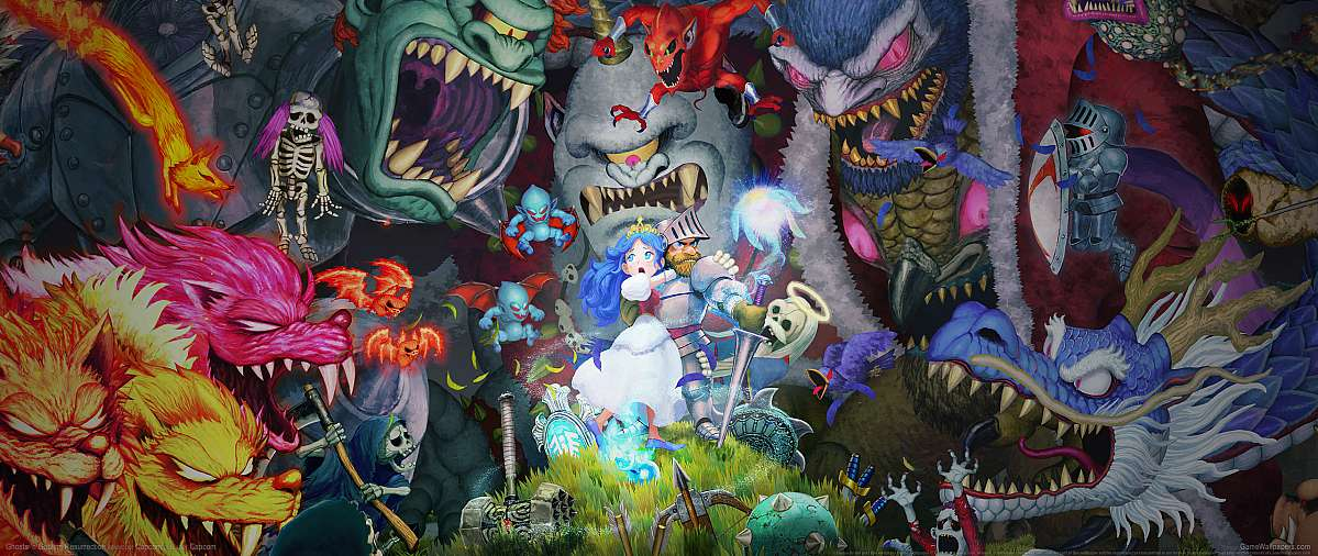 Ghosts 'n Goblins Resurrection ultrawide wallpaper or background 01