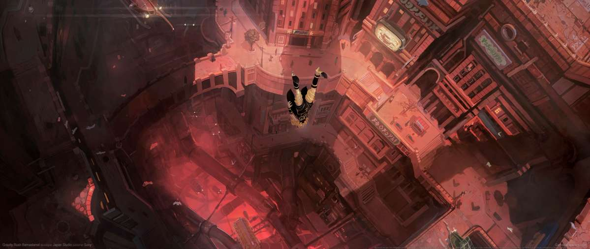 Gravity Rush Remastered ultrawide wallpaper or background 01