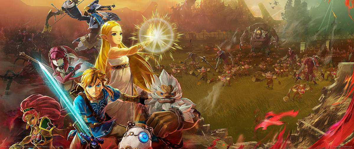 Hyrule Warriors: Age of Calamity ultrawide wallpaper or background 01