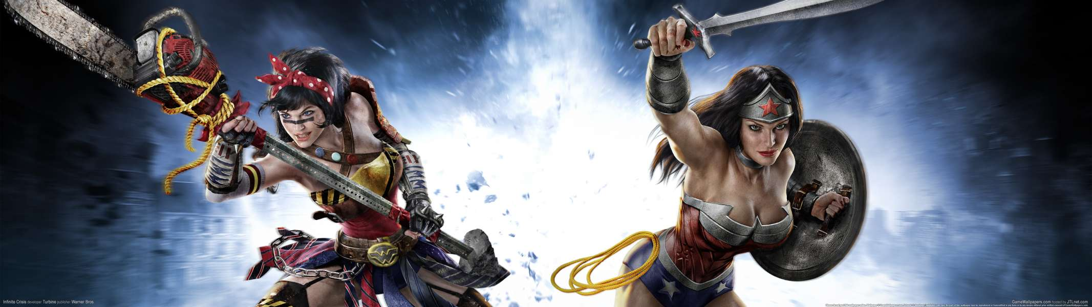 Infinite Crisis dual screen wallpaper or background