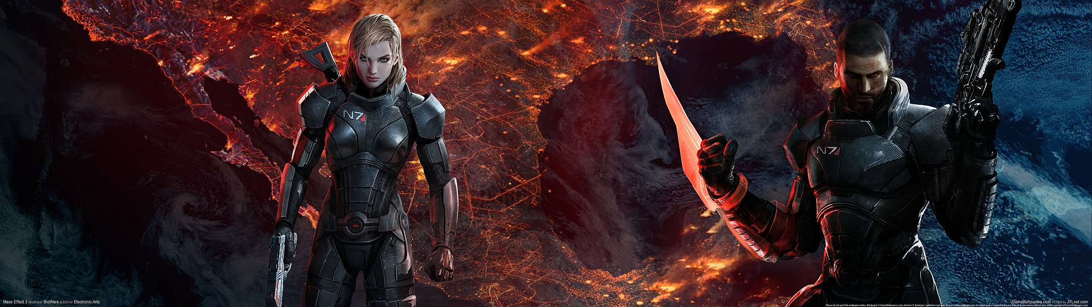 Mass Effect 3 dual screen wallpaper or background