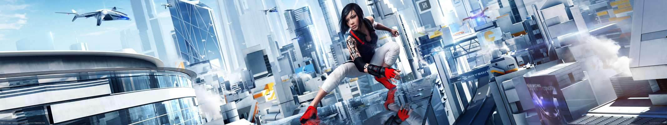 Mirror's Edge: Catalyst triple screen wallpaper or background
