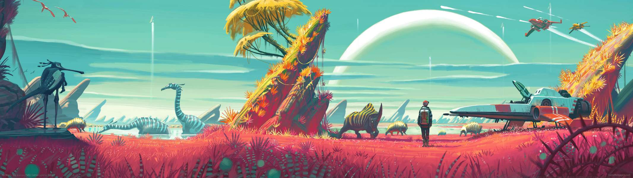 No Man's Sky dual screen wallpaper or background