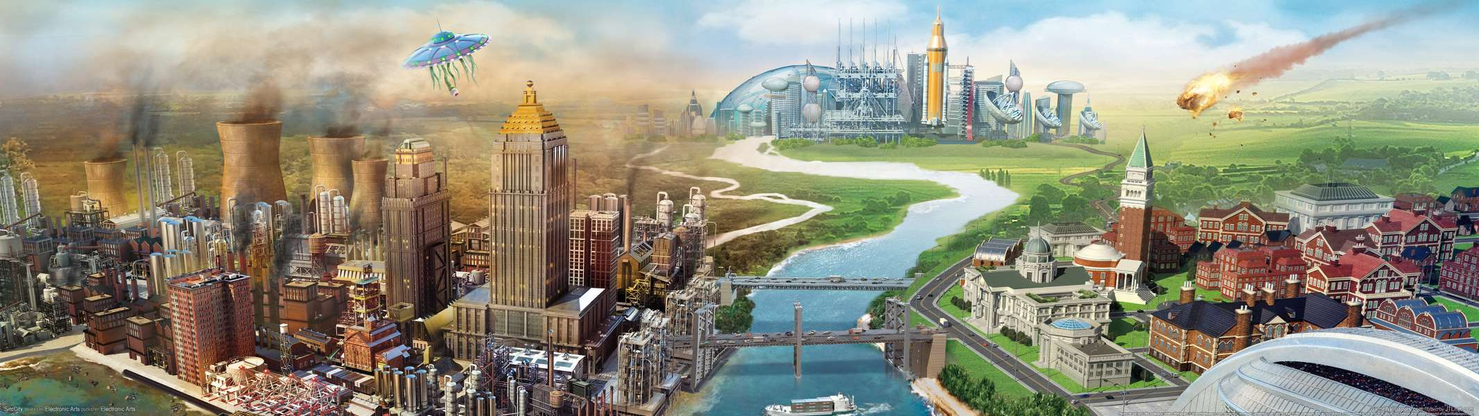 SimCity dual screen wallpaper or background