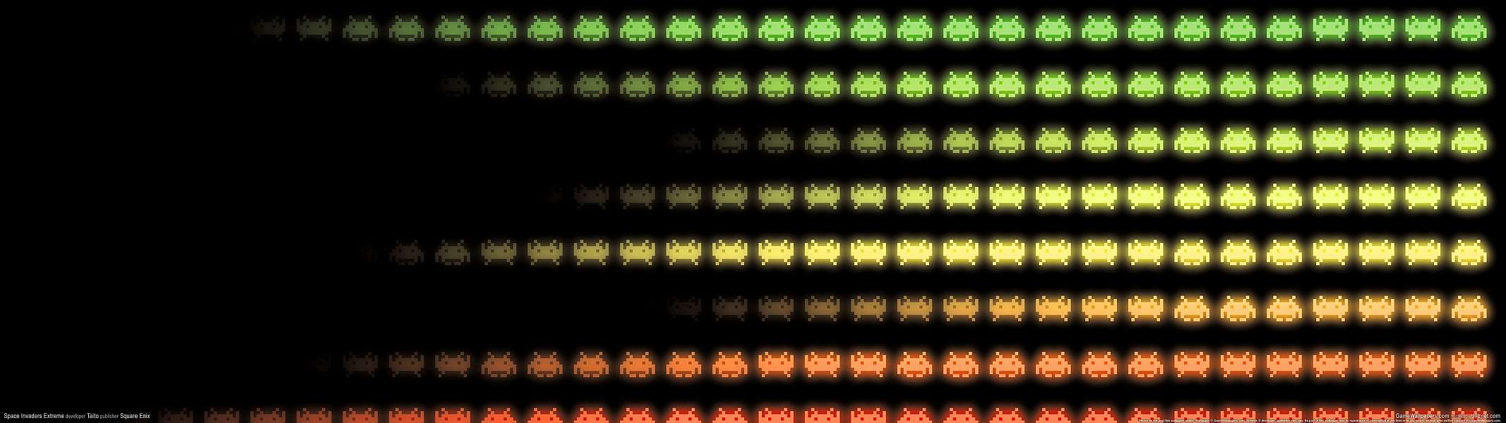 Space Invaders Extreme dual screen wallpaper or background