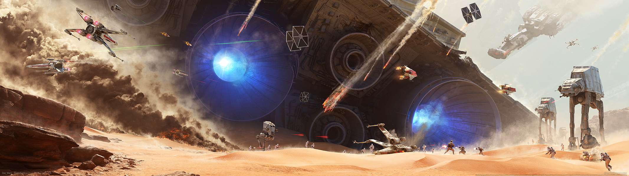 Star Wars - Battlefront dual screen wallpaper or background