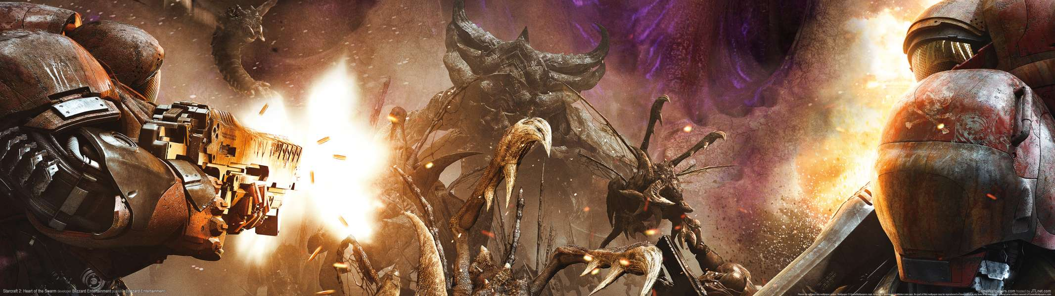 StarCraft 2: Heart of the Swarm dual screen wallpaper or background