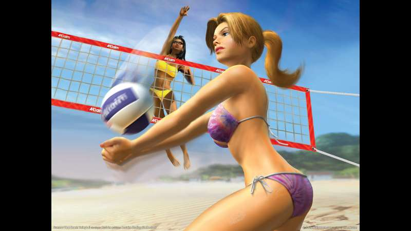 Summer Heat Beach Volleyball wallpaper or background 01