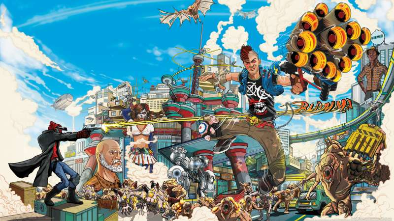 Sunset Overdrive wallpaper or background 01