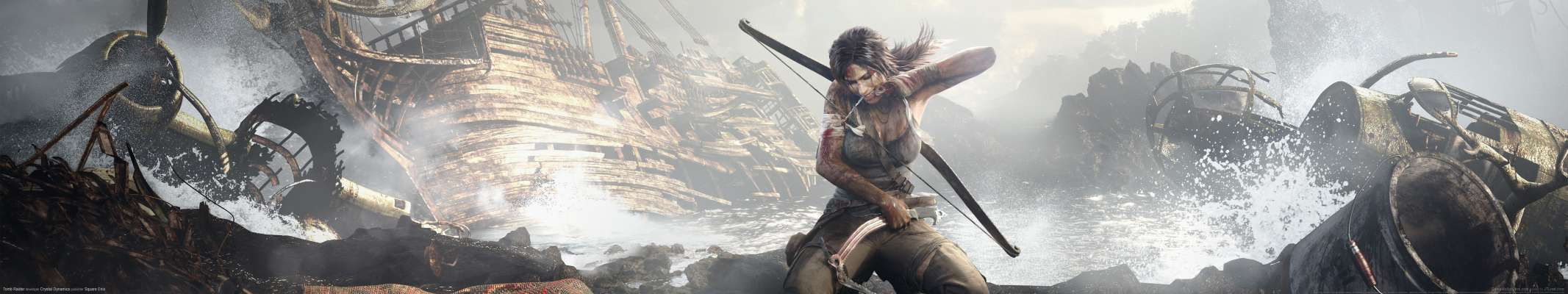 Tomb Raider triple screen wallpaper or background