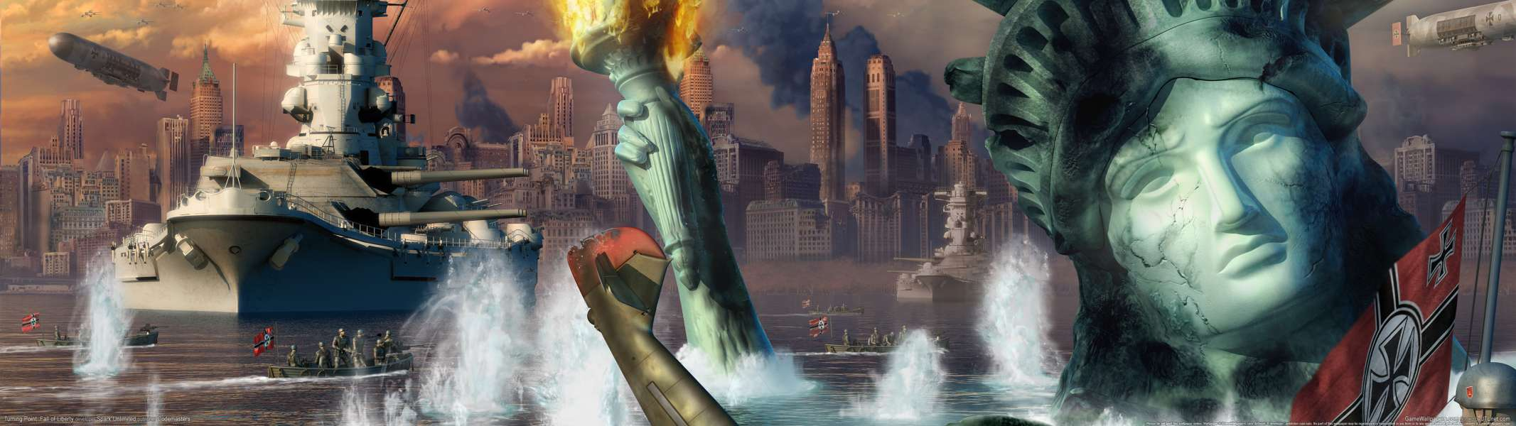 Turning Point: Fall of Liberty dual screen wallpaper or background