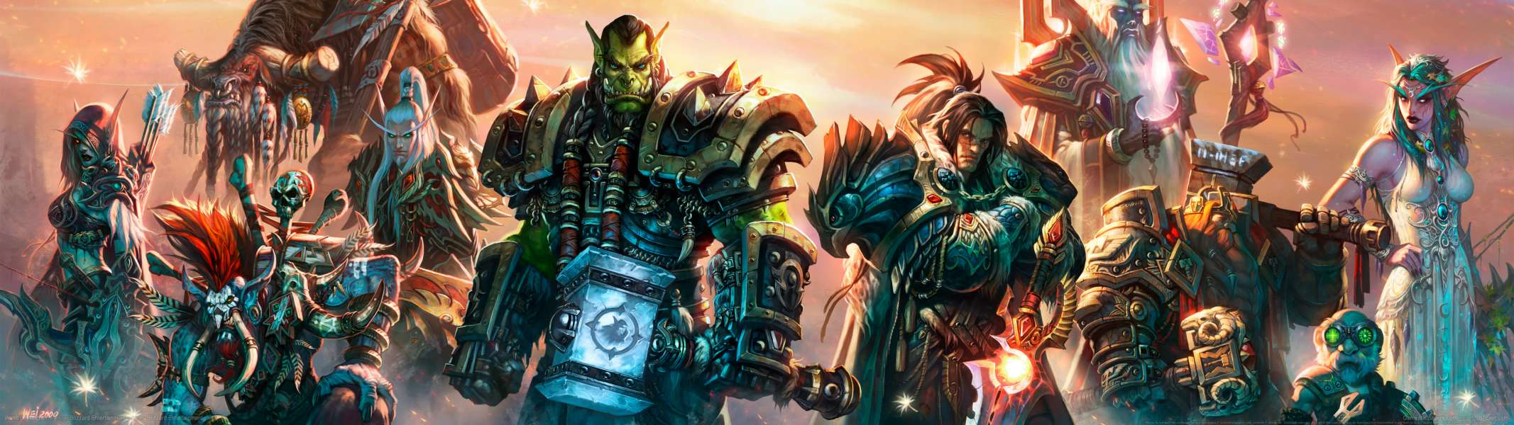 World of Warcraft dual screen wallpaper or background