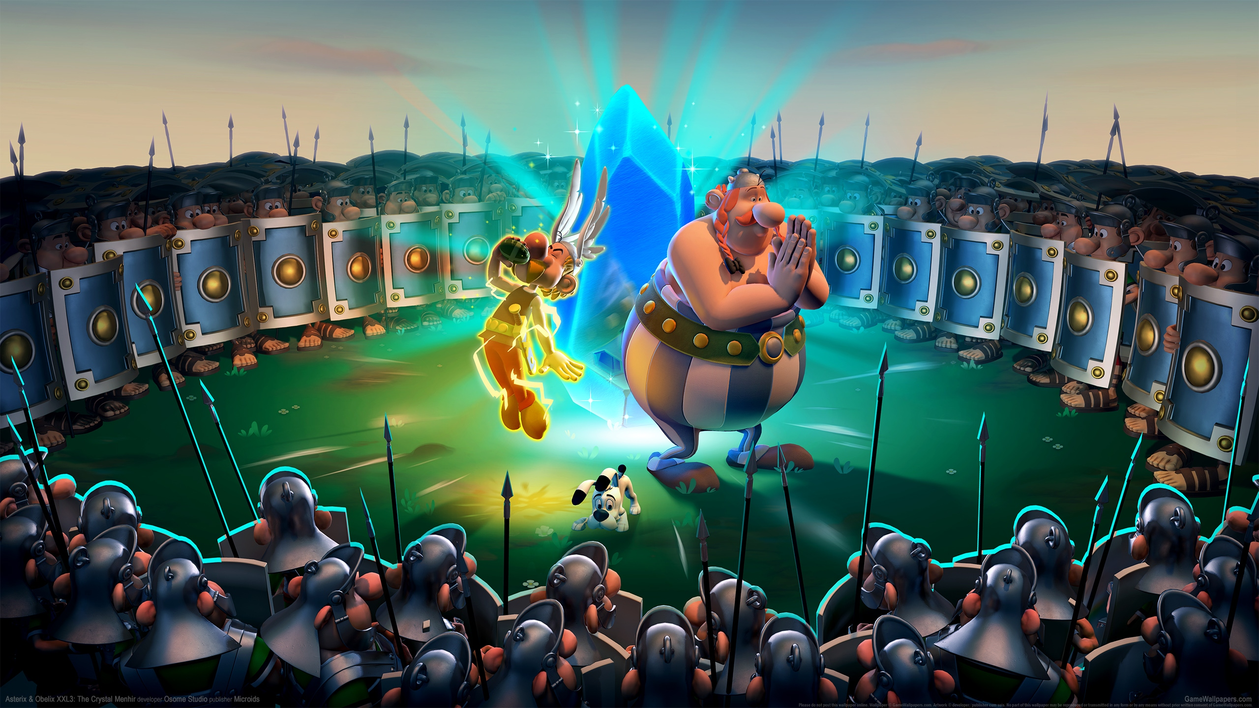 Asterix & Obelix XXL3: The Crystal Menhir 2560x1440 Hintergrundbild 01