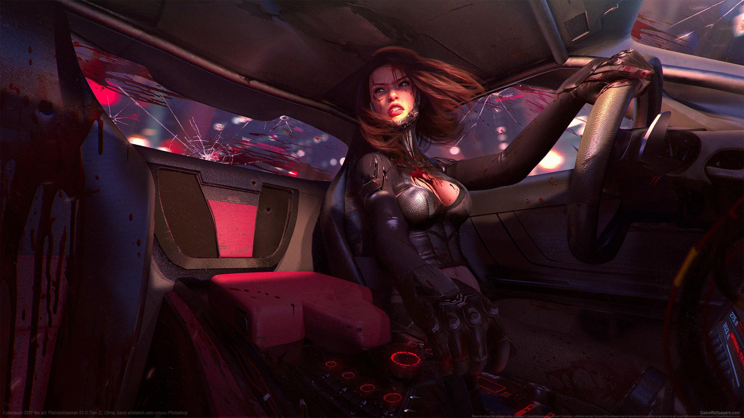 Cyberpunk 2077 fan art 2560x1440 wallpaper or background 01