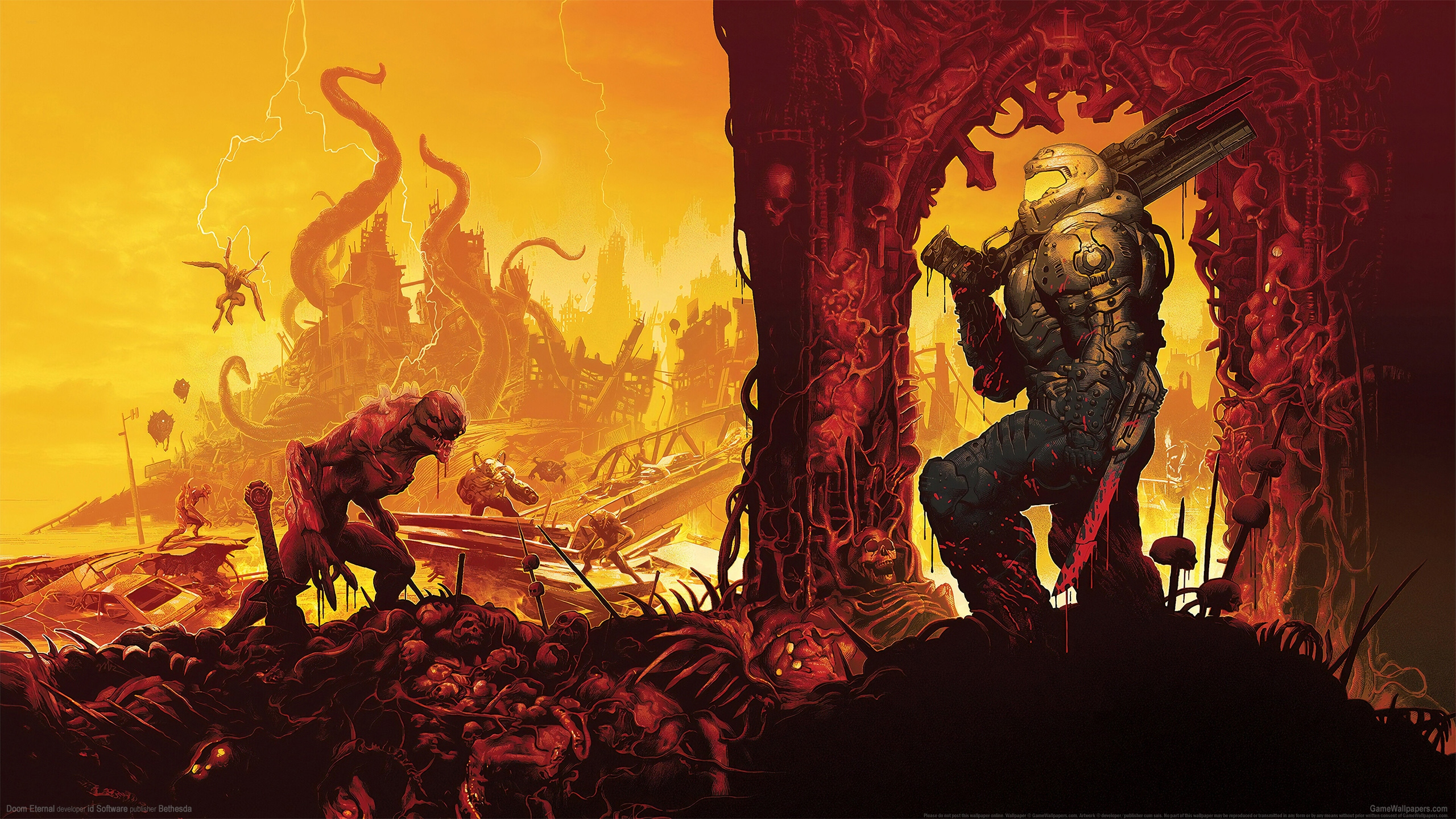 Doom Eternal 2560x1440 fondo de escritorio 11