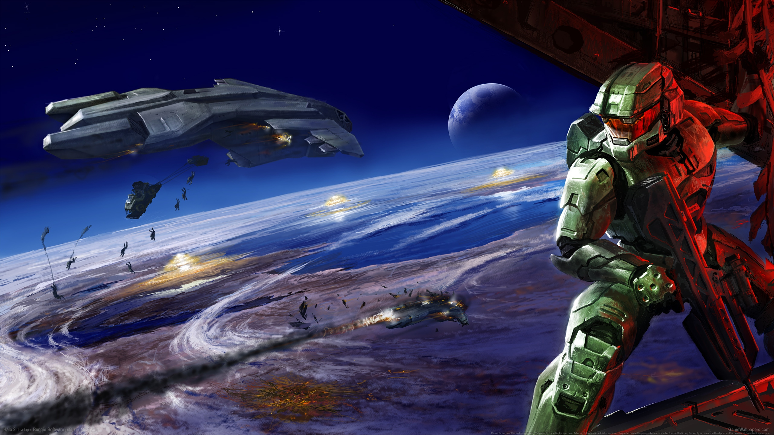 Halo 2 2560x1440 wallpaper or background 18