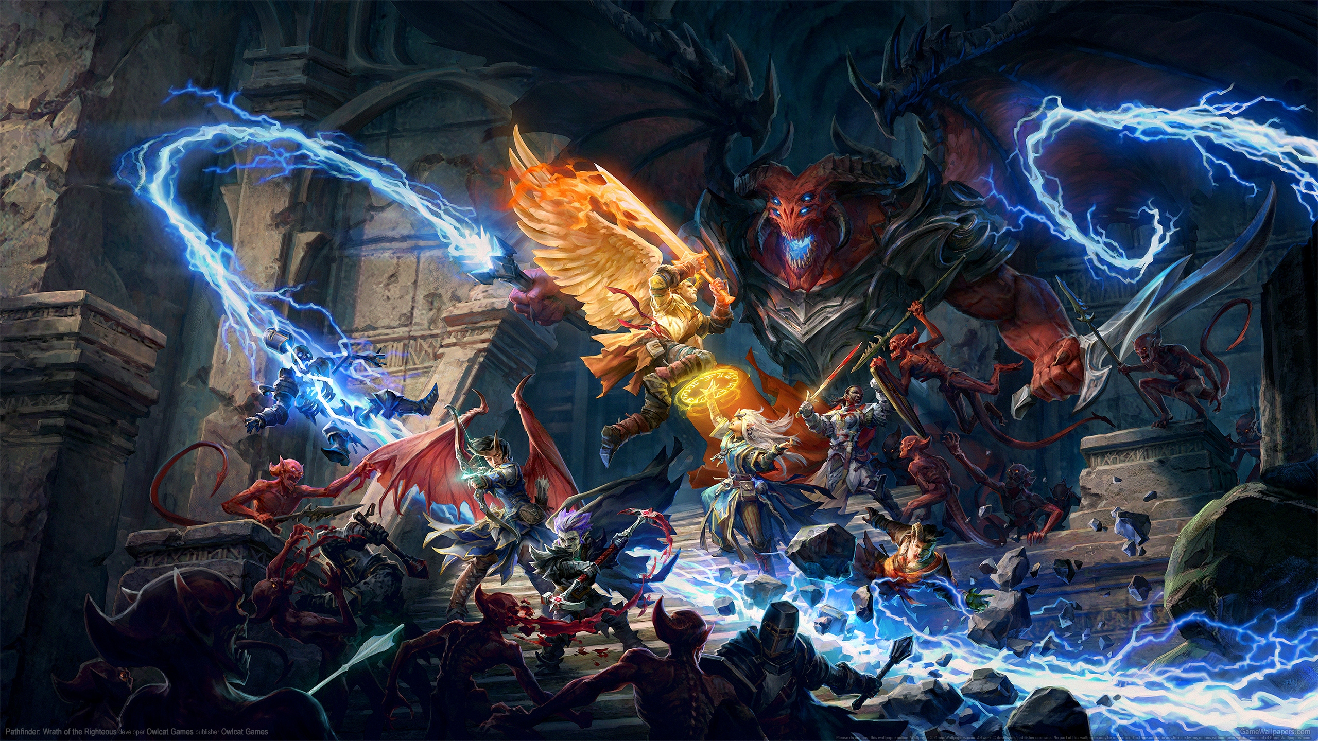 Pathfinder: Wrath of the Righteous 2560x1440 achtergrond 01