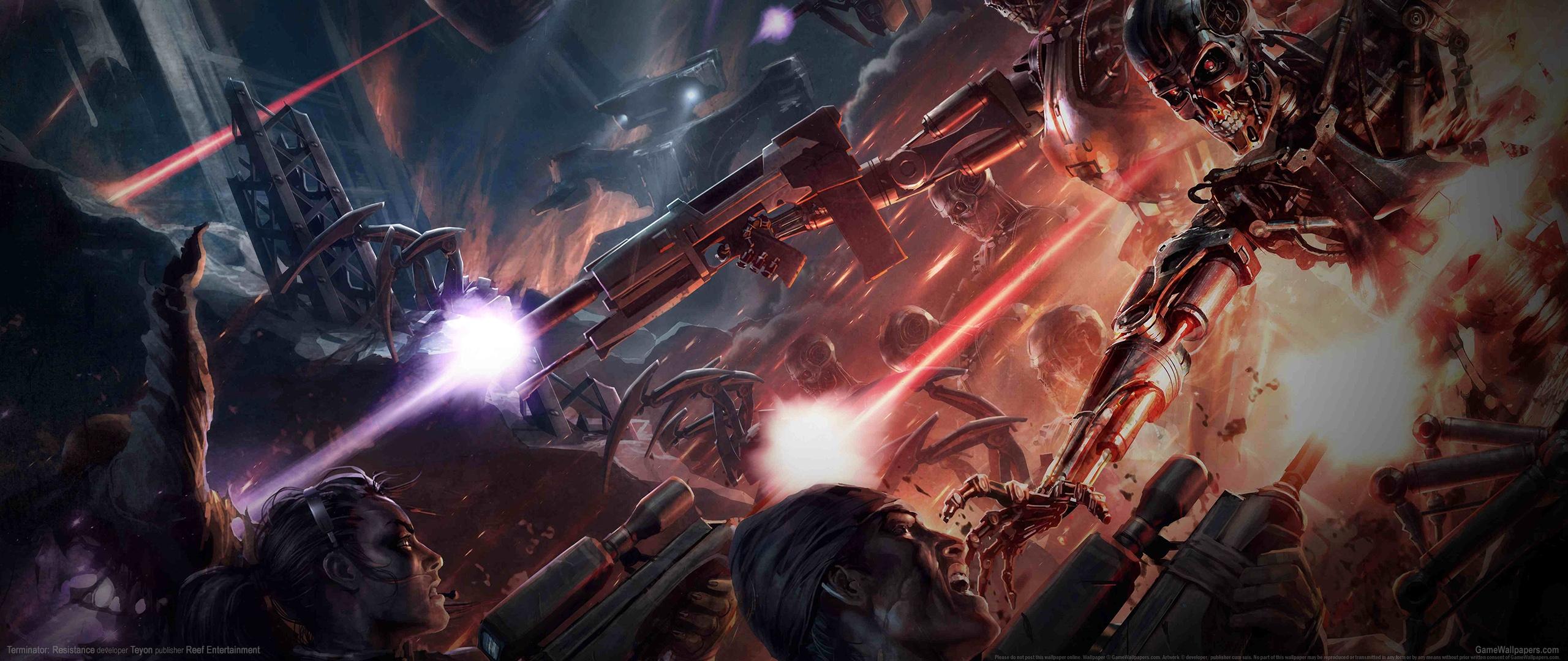 Terminator: Resistance 2560x1080 achtergrond 02