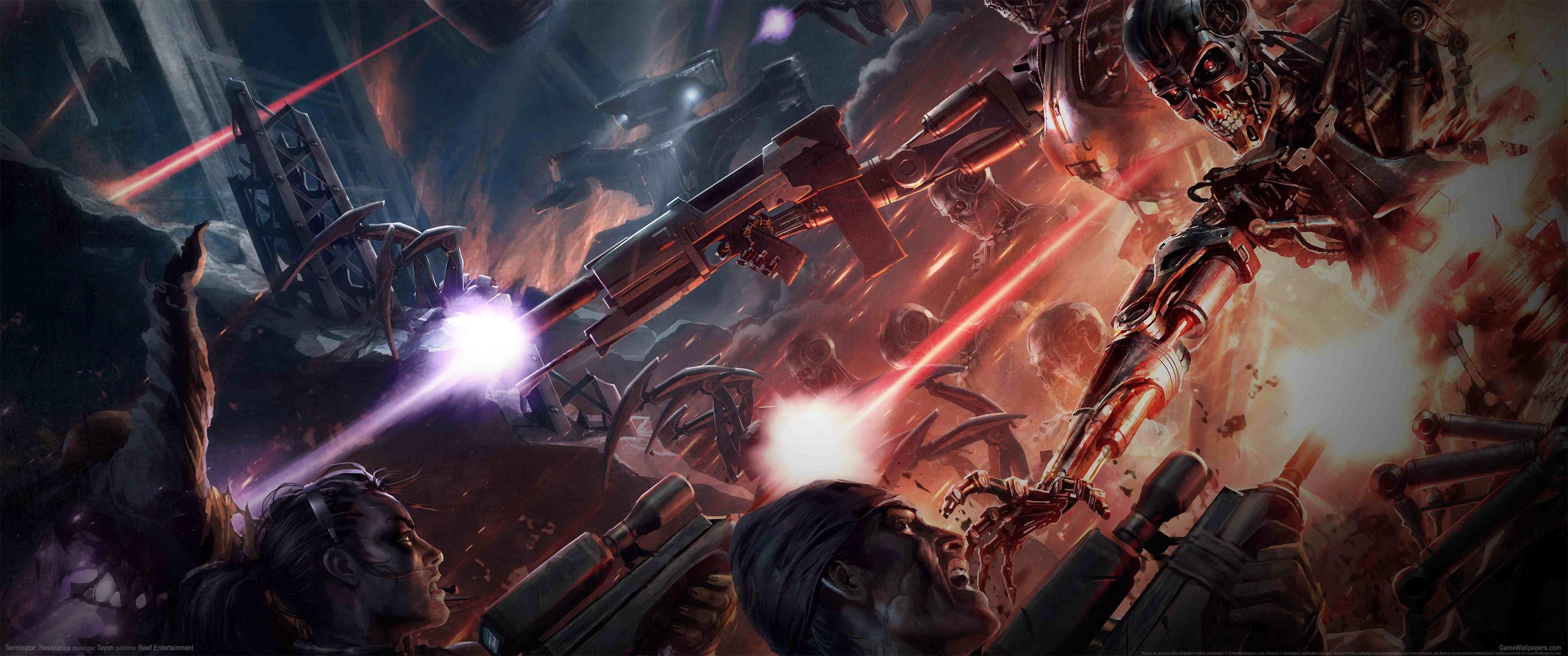 Terminator: Resistance 3440x1440 achtergrond 02