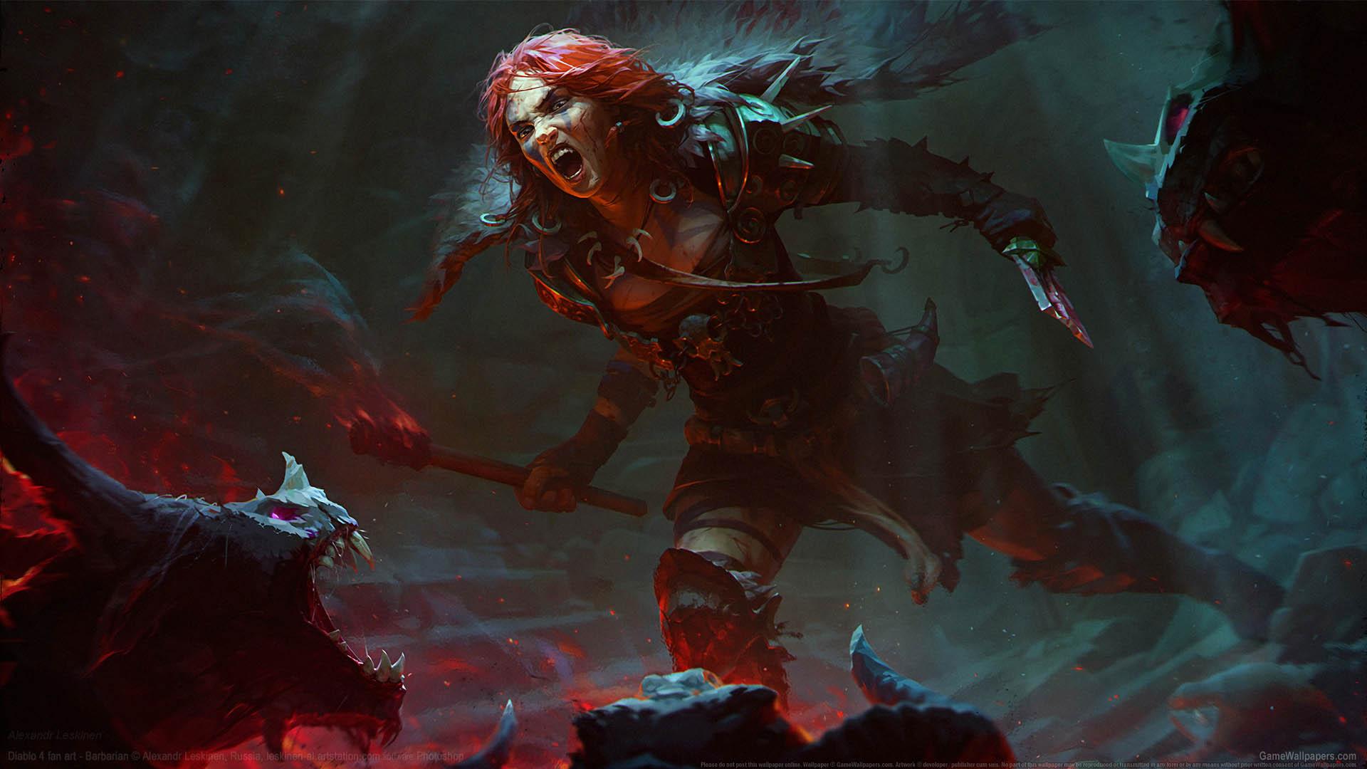 Diablo 4 fan art Hintergrundbild 01 1920x1080