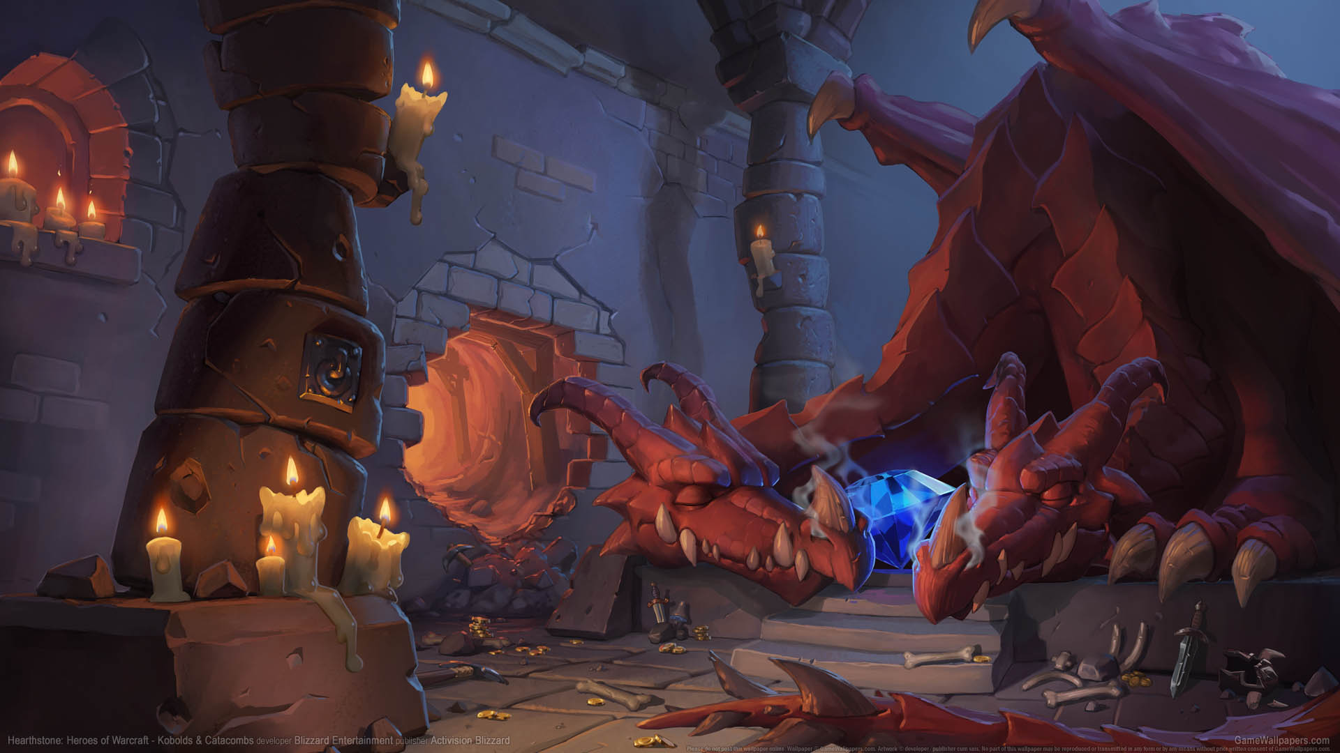 Hearthstone: Heroes of Warcraft - Kobolds & Catacombs wallpaper 01 1920x1080
