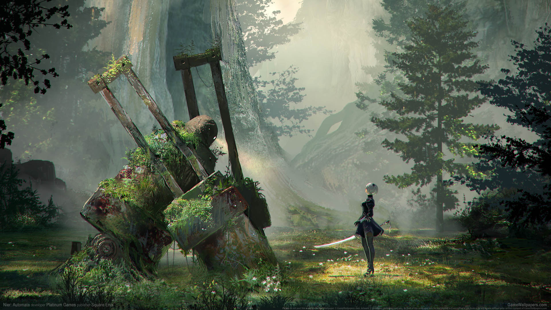 Nier Automata Fan Art Wallpaper 01 1920x1080: Nier Automata Wallpaper 01 1920x1080