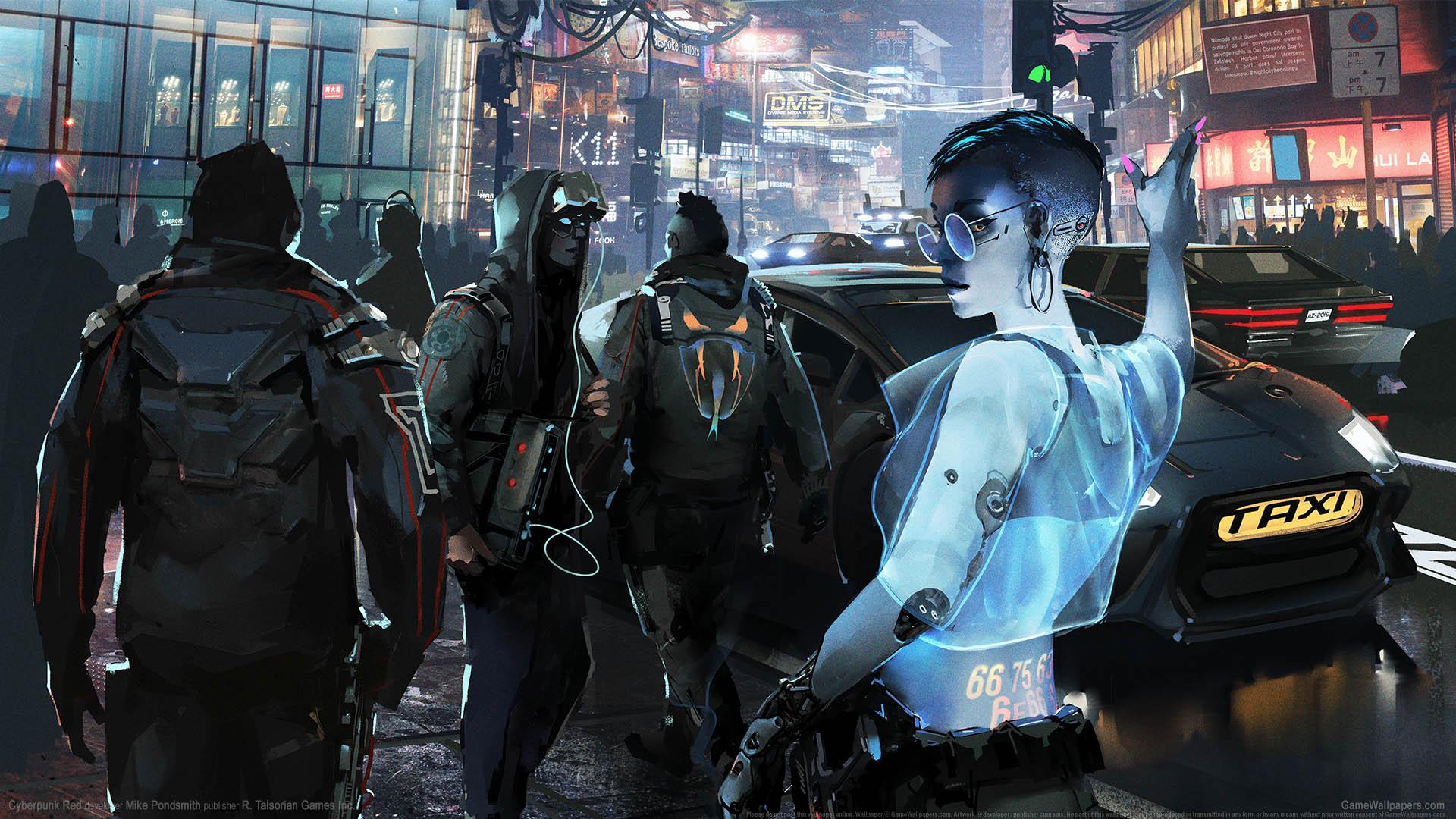 Cyberpunk Red achtergrond 01 1920x1080