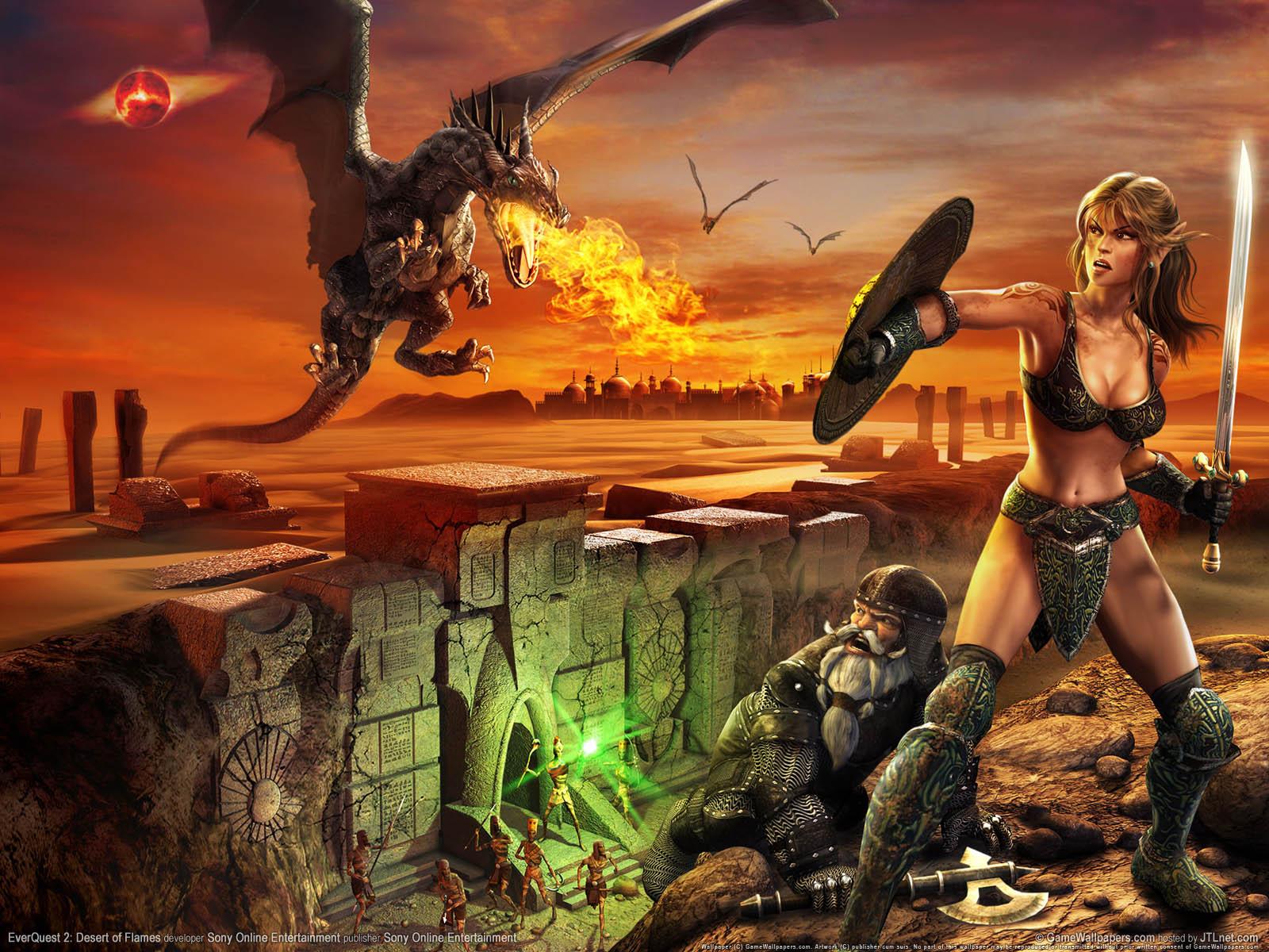 EverQuest 2: Desert of Flamesνmmer=01 achtergrond  1600x1200