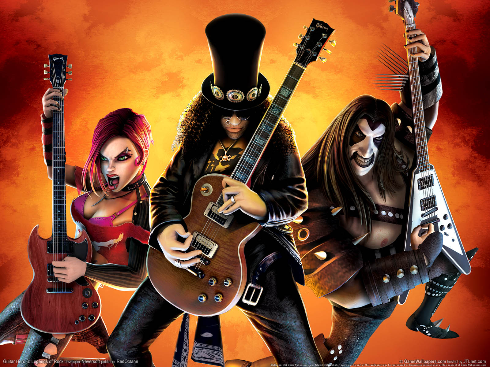 Guitar Hero 3: Legends of Rockνmmer=01 achtergrond  1600x1200