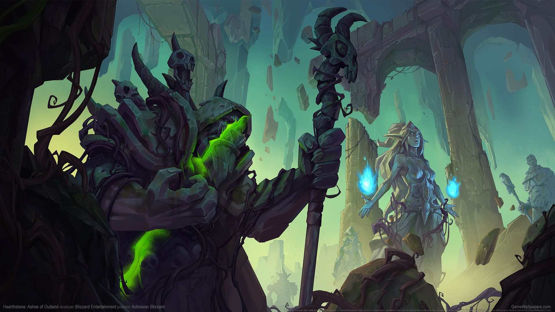 Hearthstone: Ashes of Outland fondo de escritorio 01 1920x1080