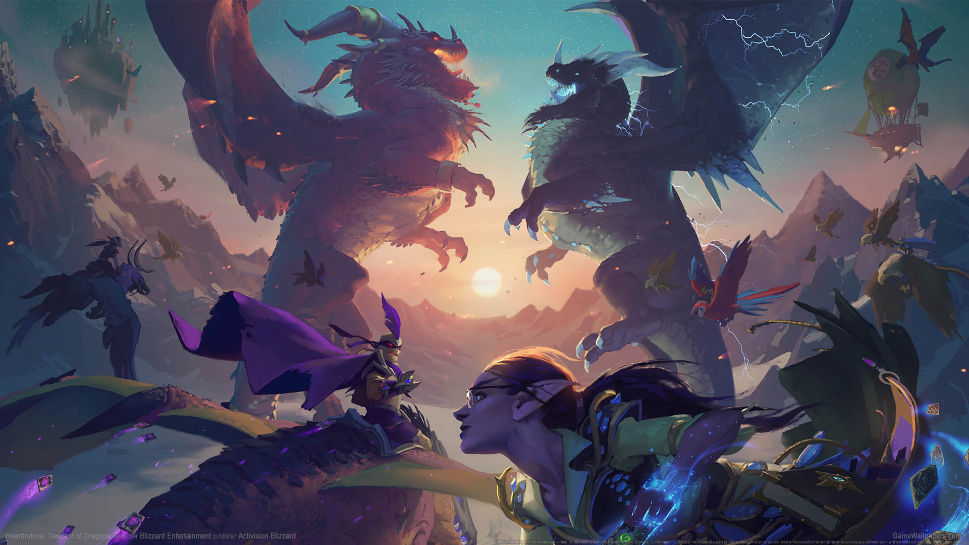 Hearthstone: Descent of Dragons Hintergrundbild 01 1920x1080