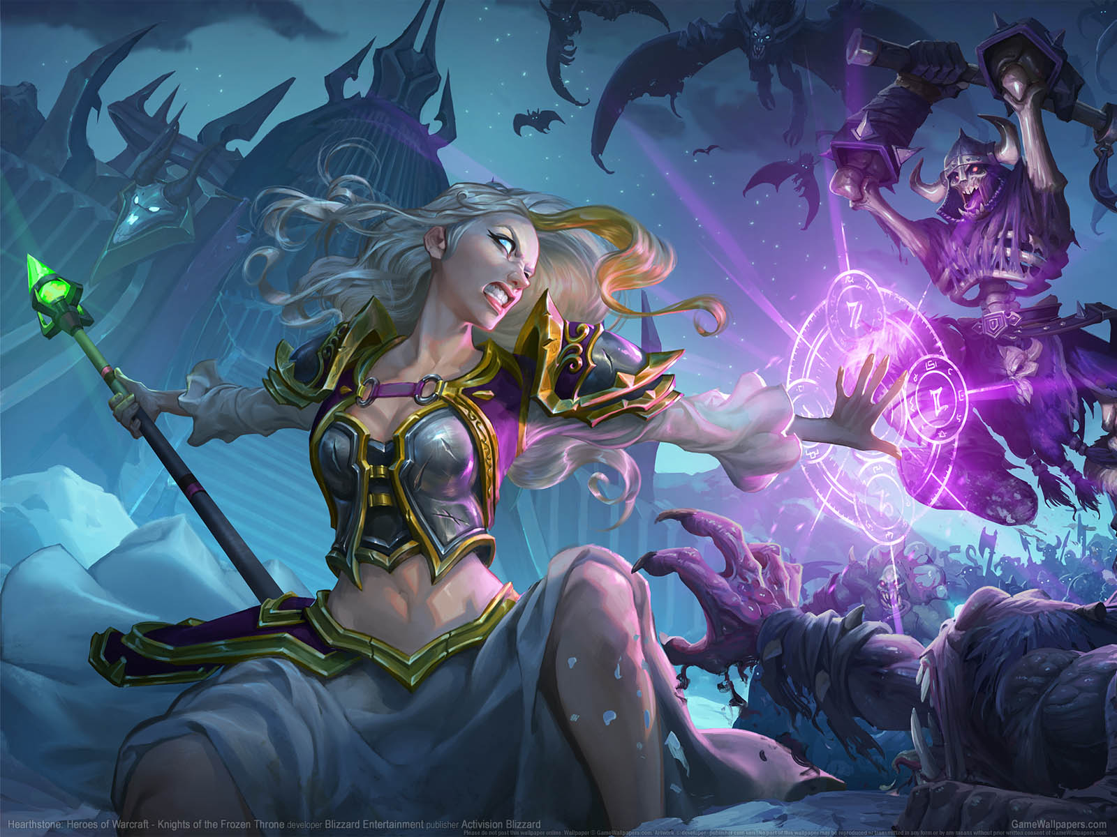 Hearthstone: Heroes of Warcraft - Knights of the Frozen Throneνmmer=01 achtergrond  1600x1200