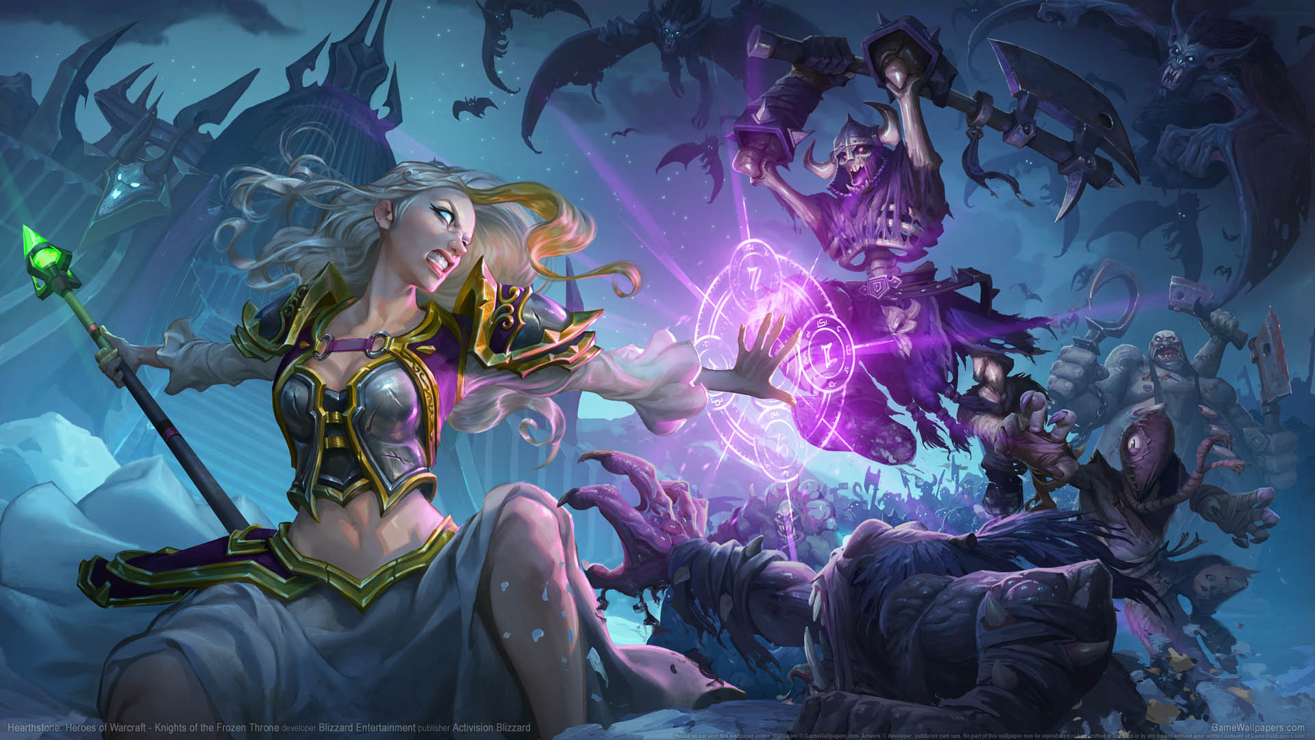 Hearthstone: Heroes of Warcraft - Knights of the Frozen Throne wallpaper 01 1920x1080