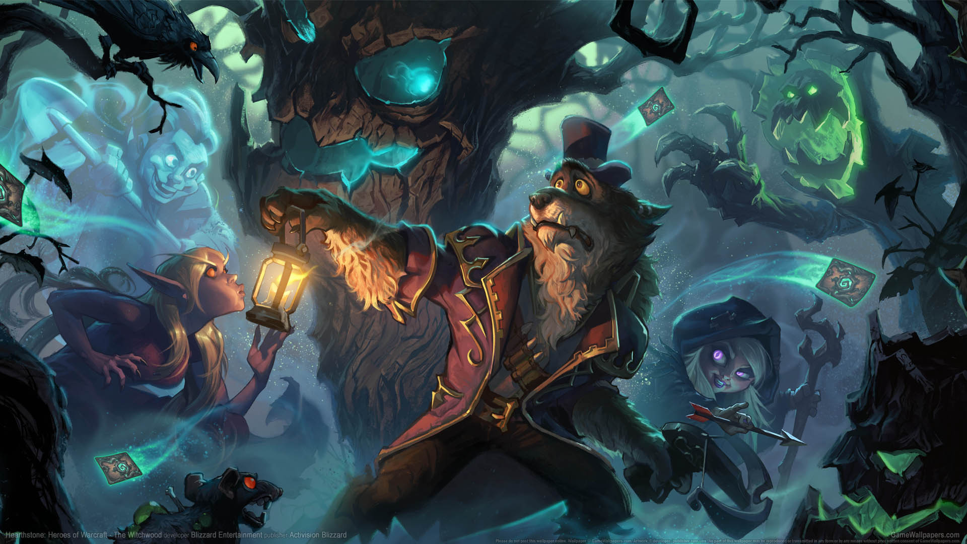 Hearthstone: Heroes of Warcraft - The Witchwood wallpaper 01 1920x1080