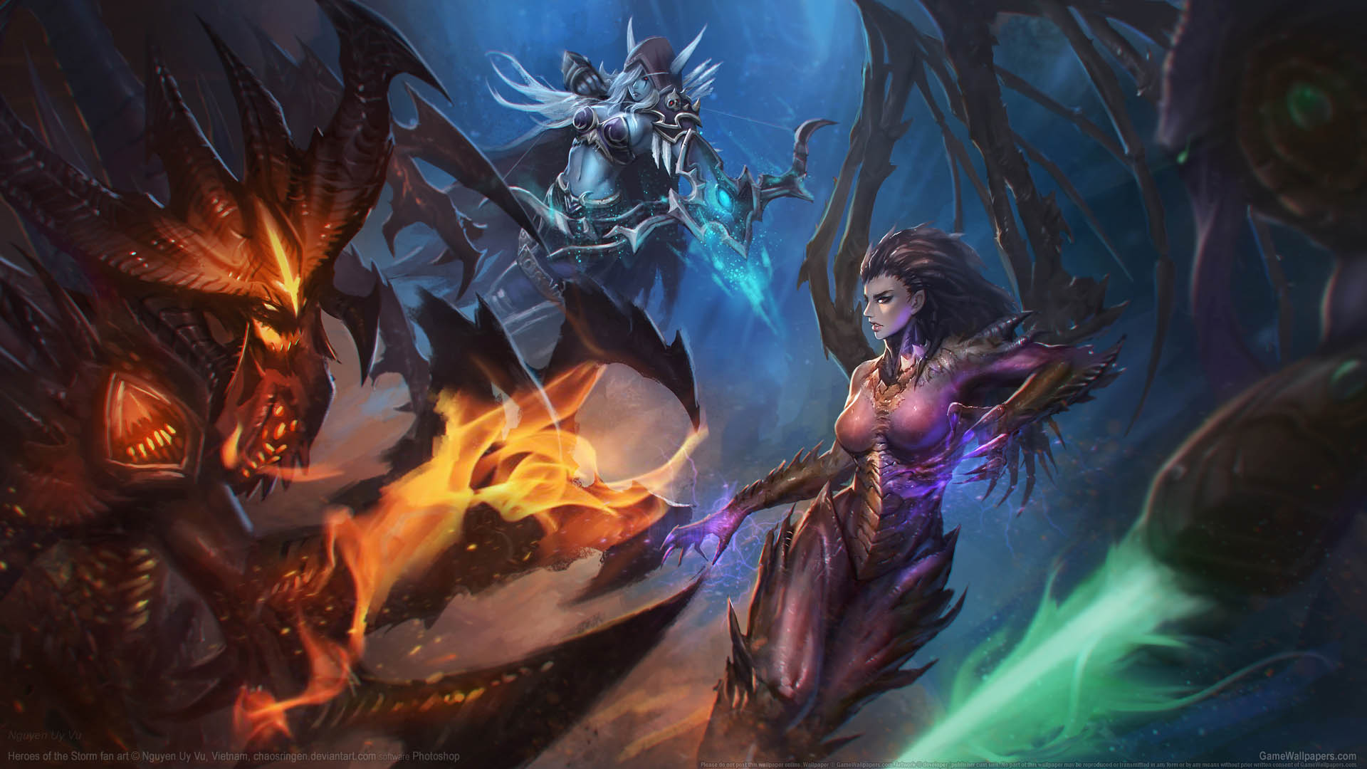 Heroes Of The Storm Fan Art Fondo De Escritorio 01 1920x1080