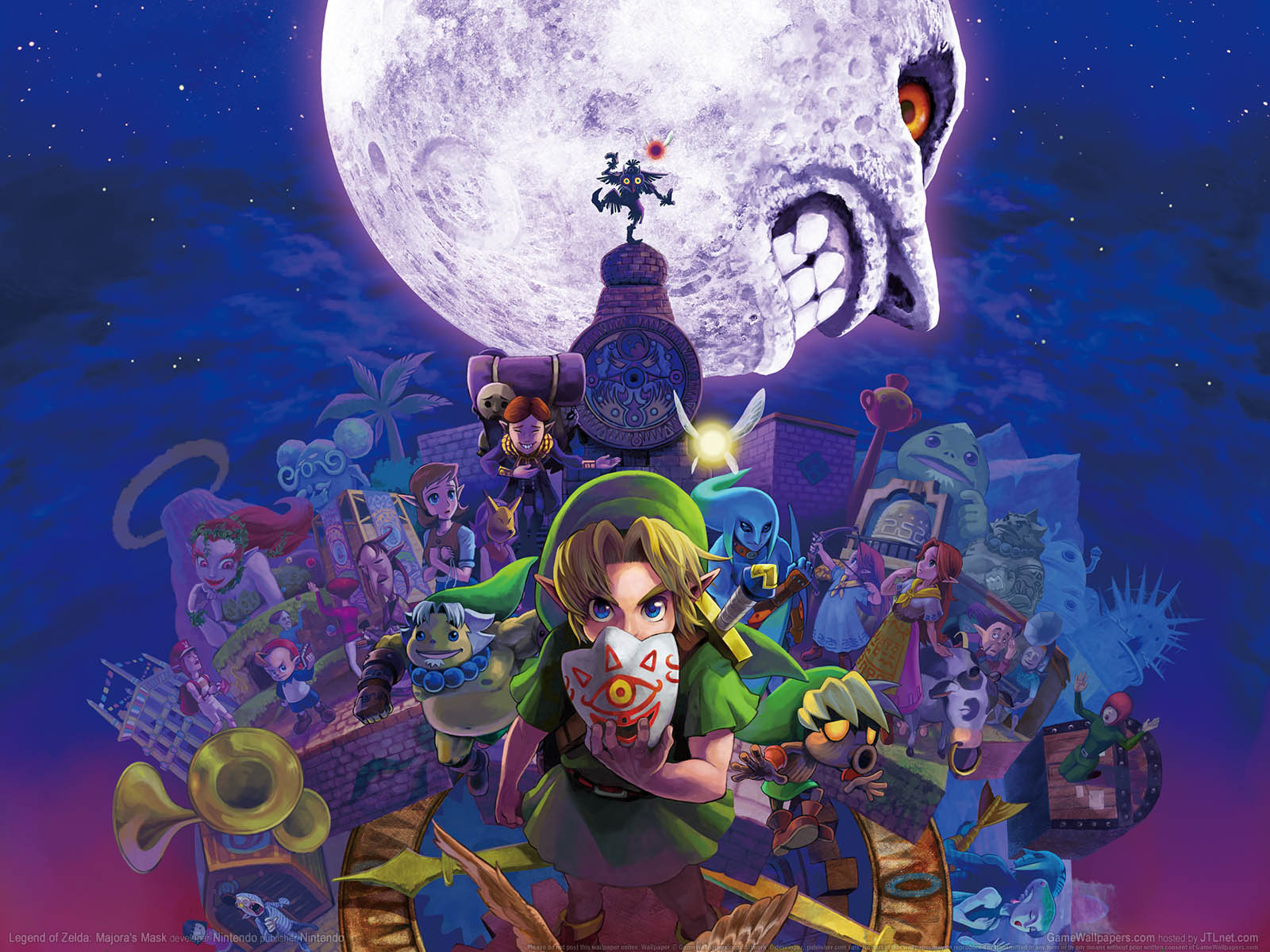 Legend of Zelda: Majora's Maskνmmer=01 achtergrond  1600x1200