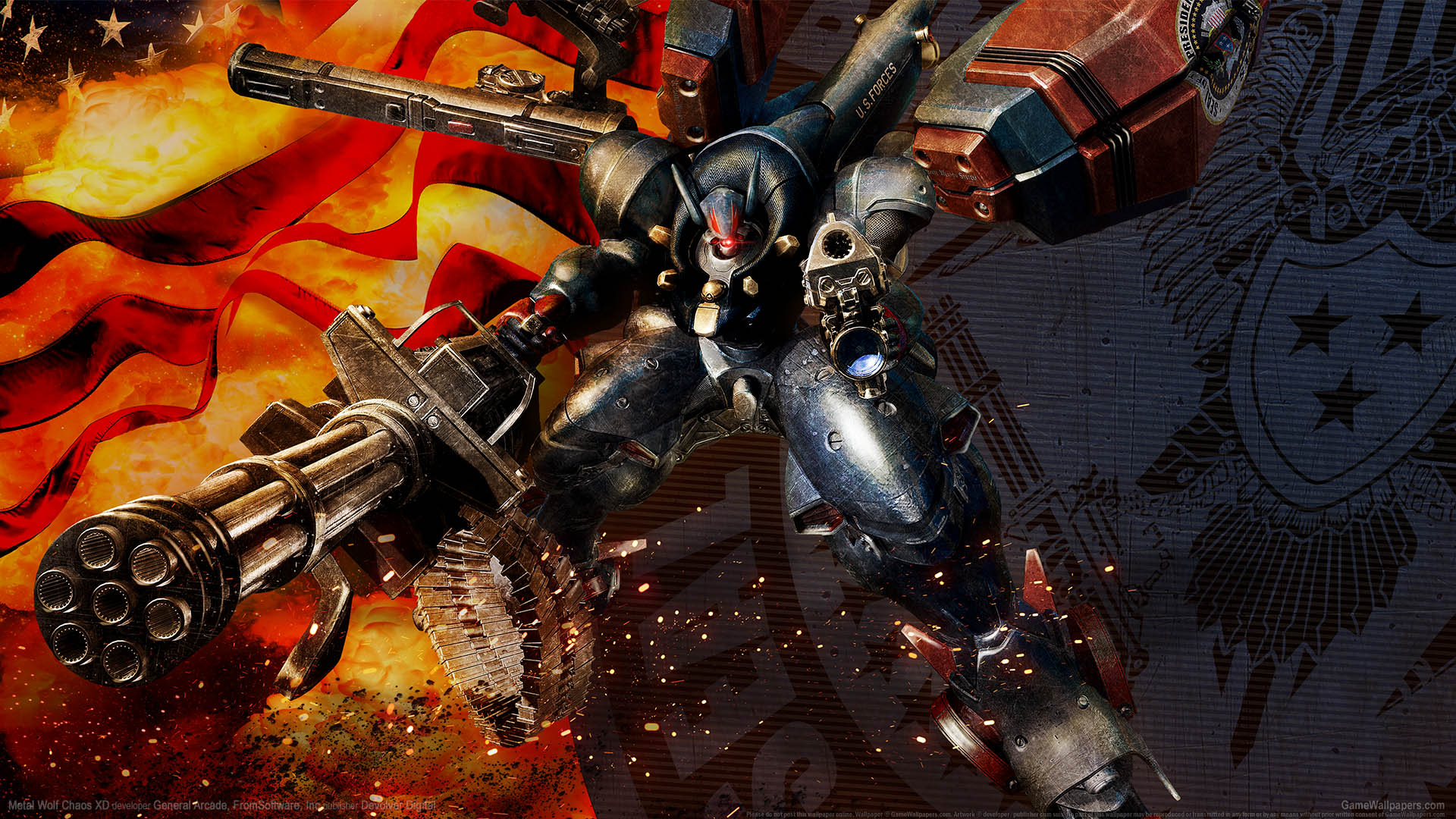 Metal Wolf Chaos XD achtergrond 01 1920x1080