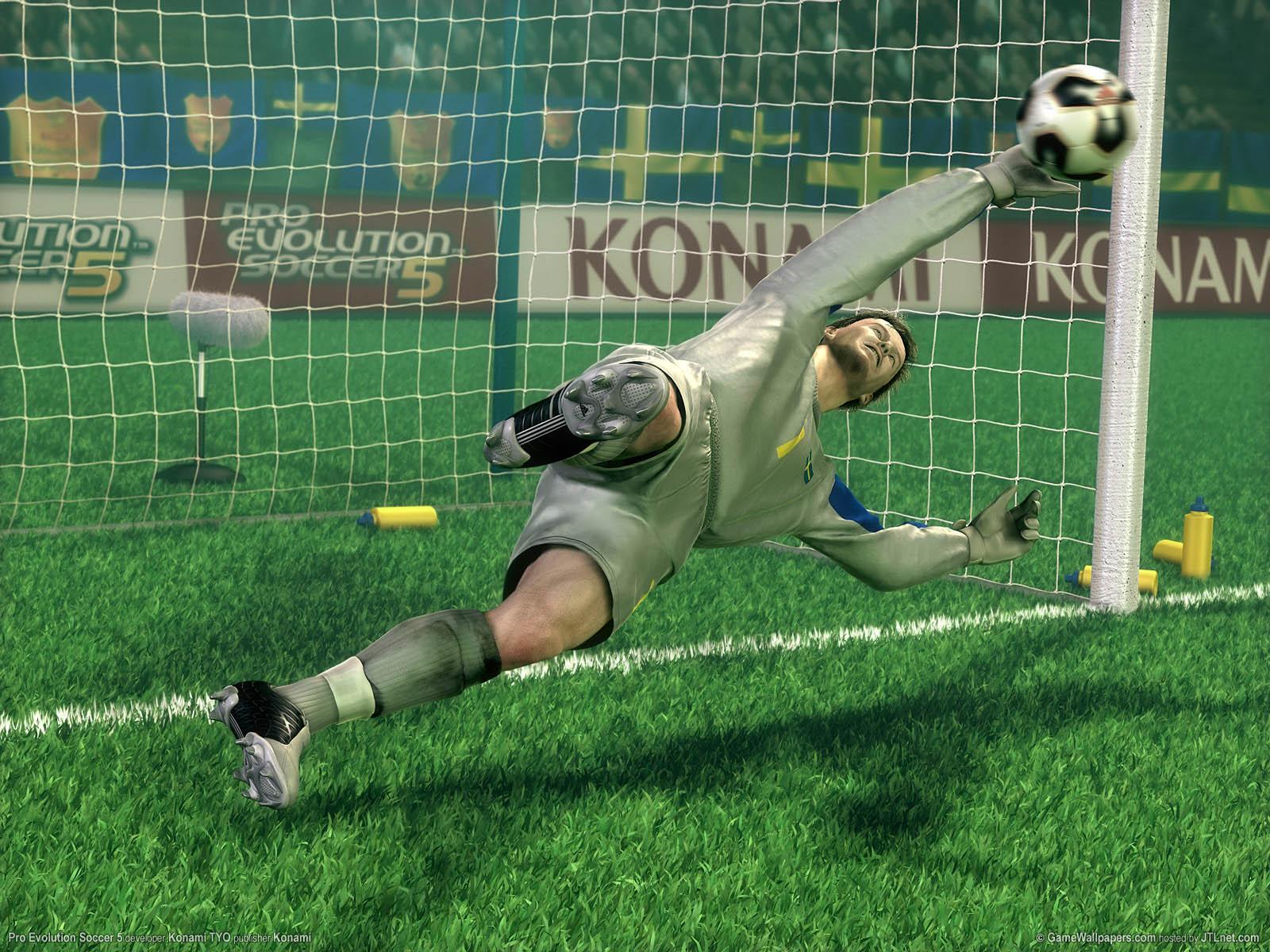 Pro Evolution Soccer 5νmmer=02 achtergrond  1600x1200