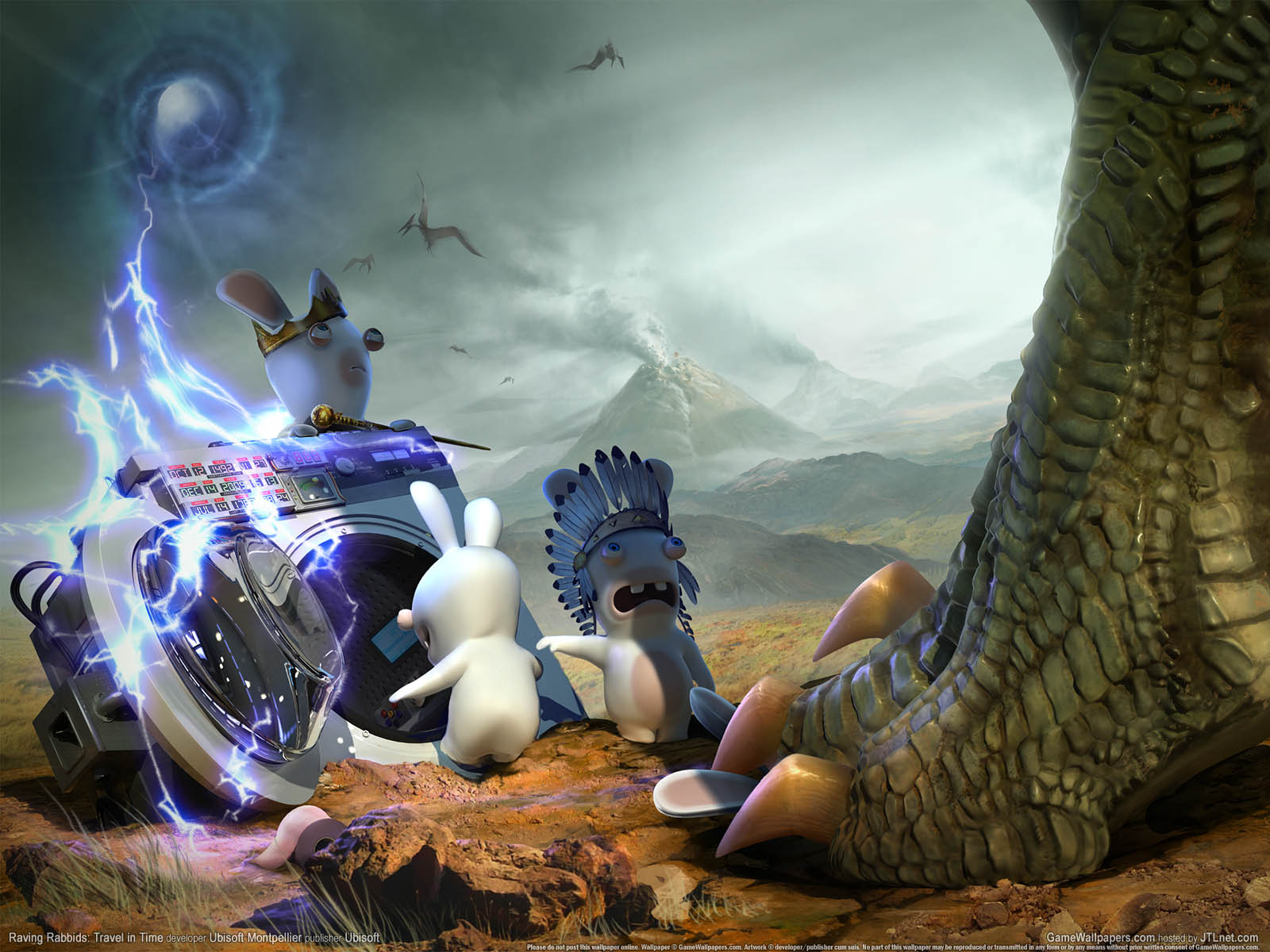 Raving Rabbids: Travel in Timeνmmer=01 achtergrond  1600x1200