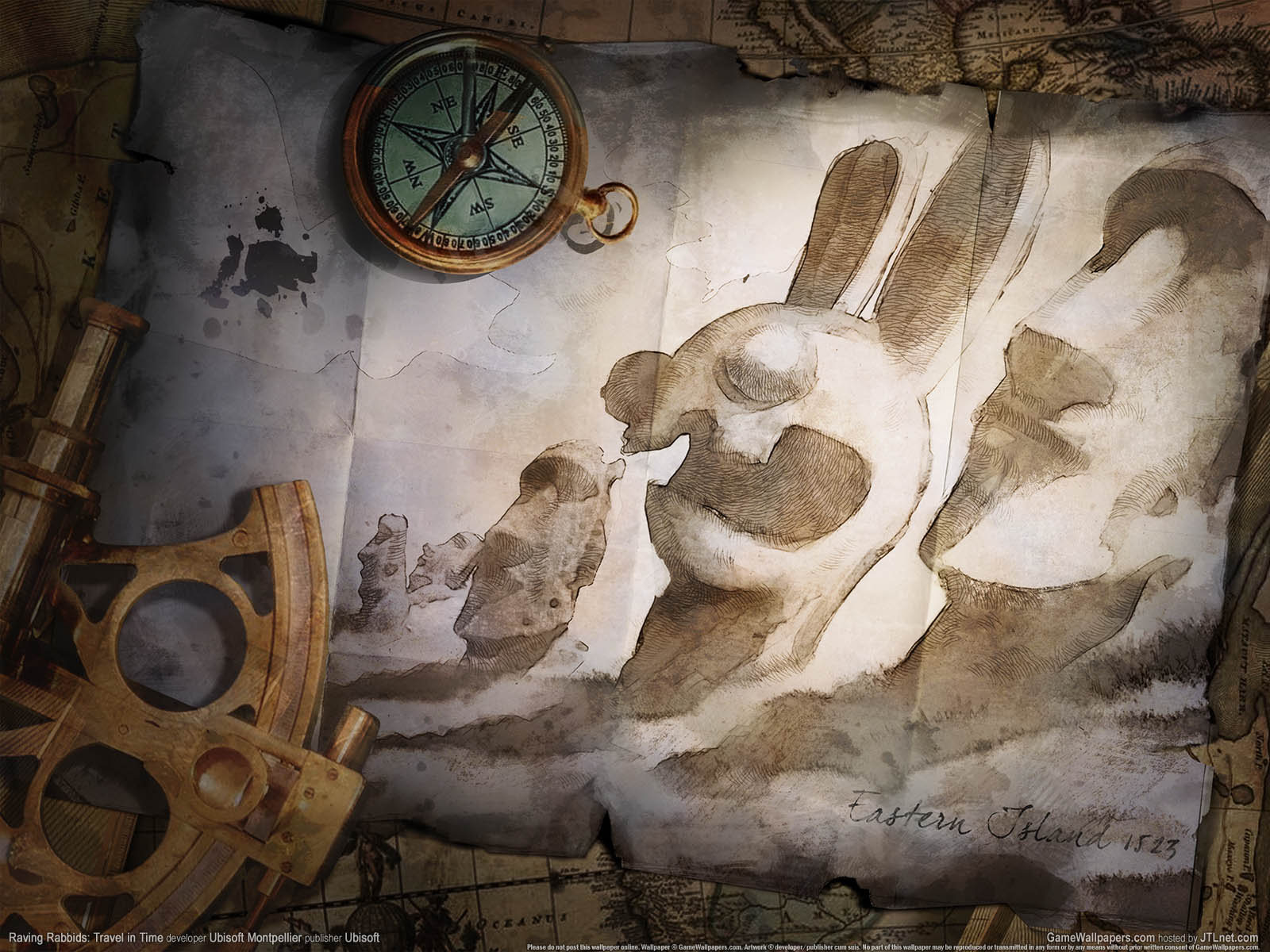 Raving Rabbids: Travel in Timeνmmer=03 achtergrond  1600x1200