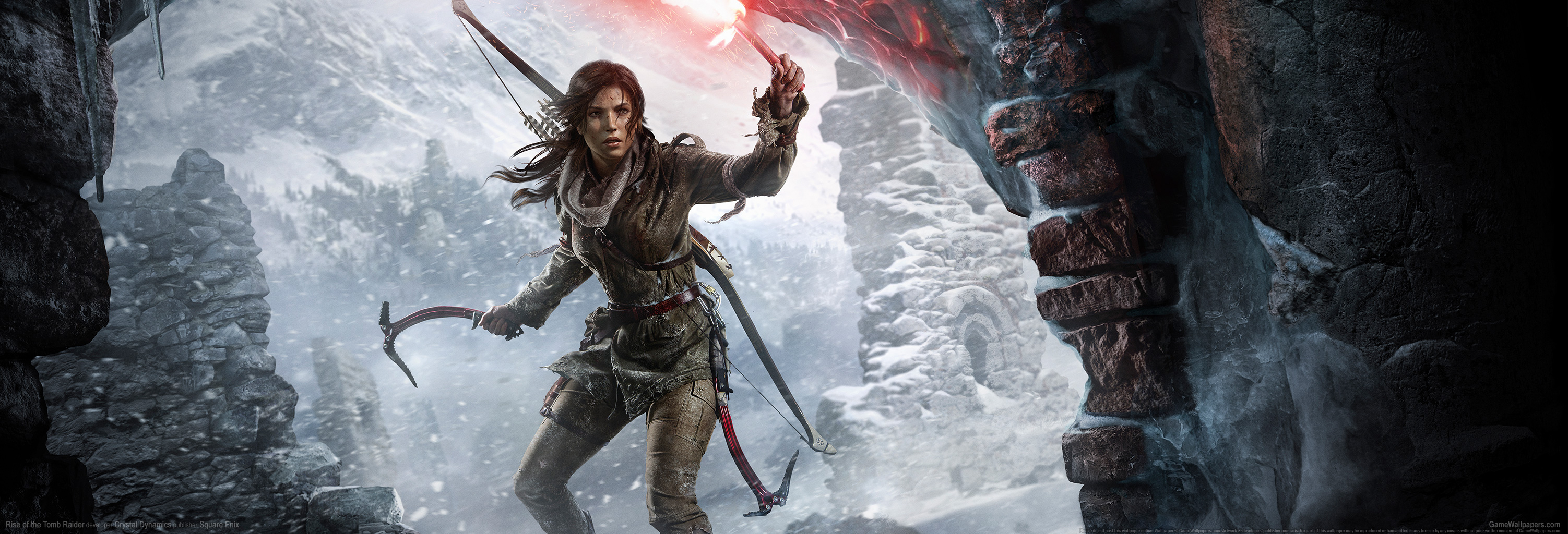Rise of the Tomb Raider wallpaper 11 3004x1024