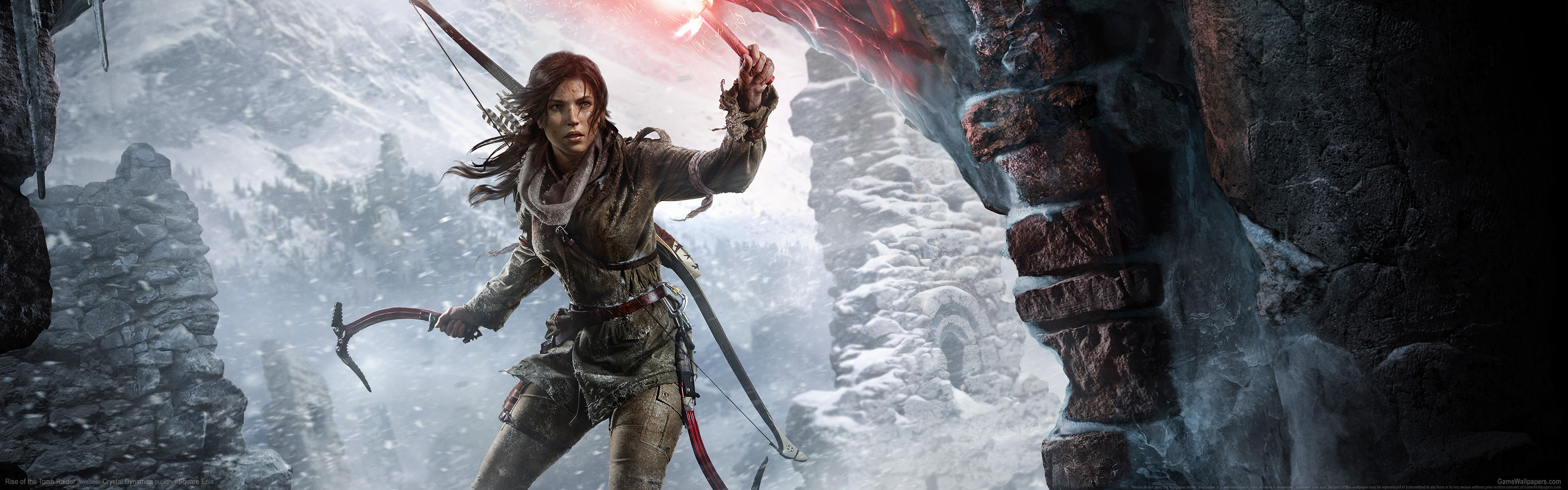 Rise of the Tomb Raider wallpaper 11 3360x1050