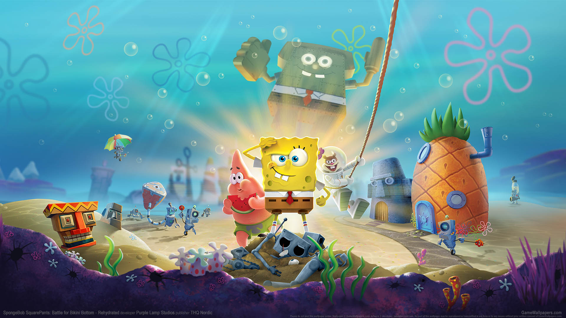 SpongeBob SquarePants: Battle for Bikini Bottom - Rehydrated fondo de escritorio 01 1920x1080
