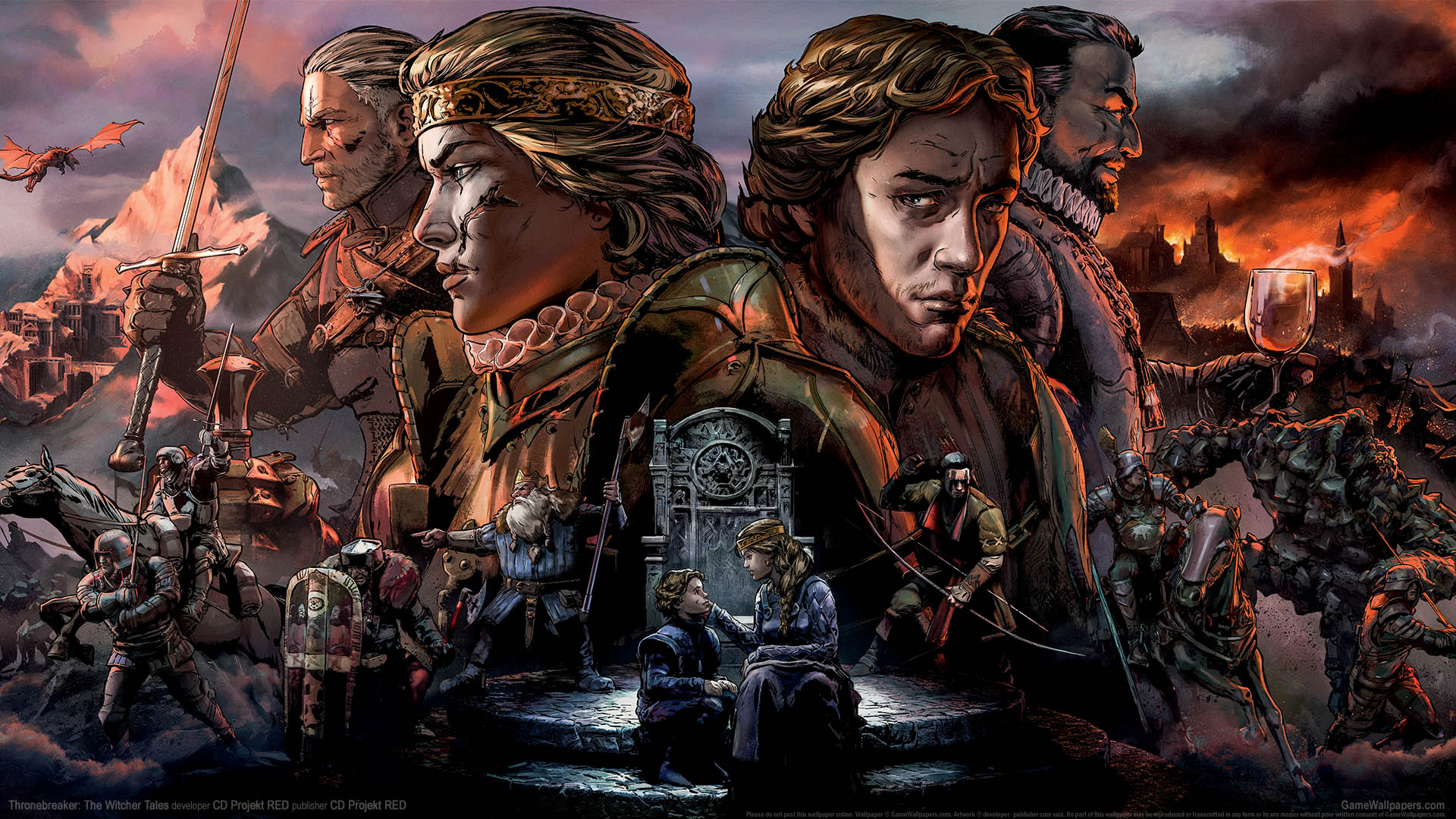 Thronebreaker: The Witcher Tales achtergrond 01 1920x1080