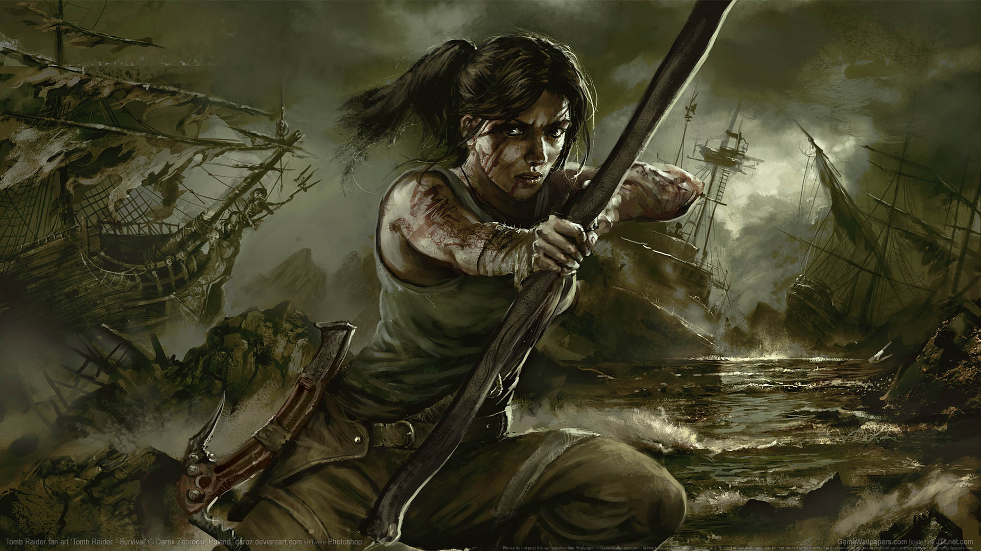 Tomb Raider fan art Hintergrundbild 08 1920x1080