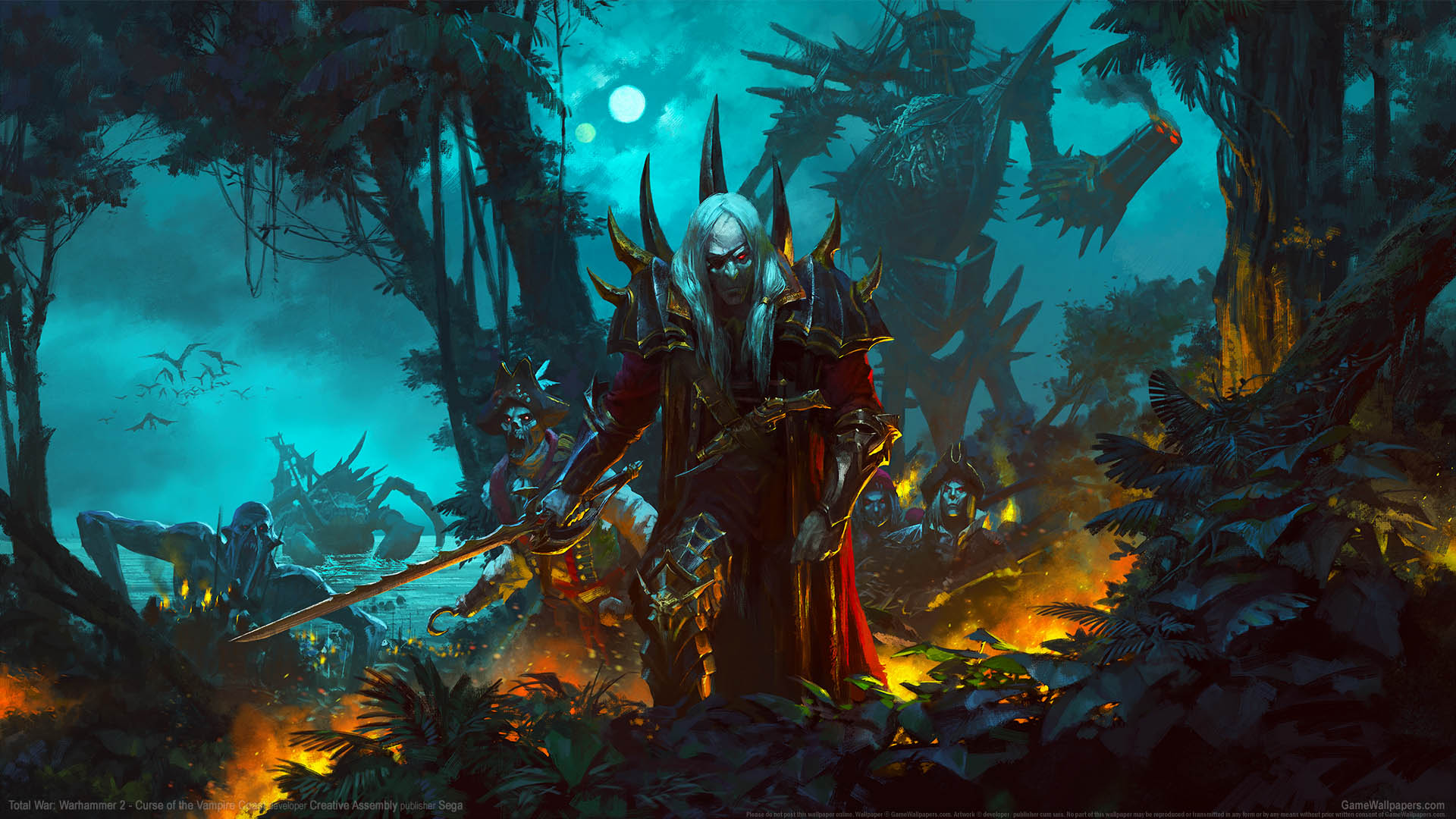Total War Warhammer 2 Wallpapers: Curse Of The Vampire Coast